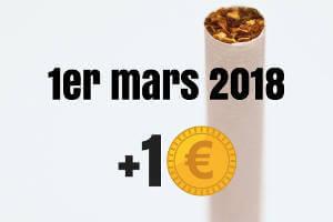 1 euro de plus en mars 2018